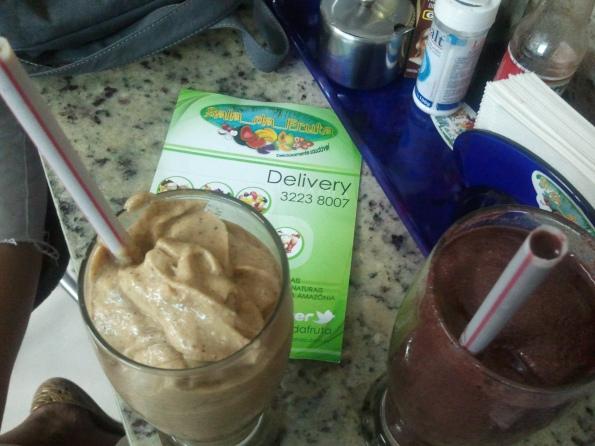 shake de açaí bacuri leite de soja do sala da fruta belém