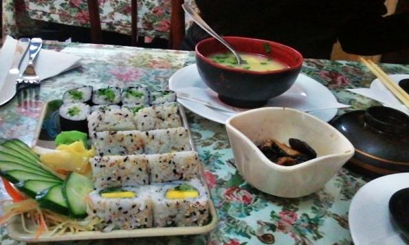 Escolha vegana no Capitólio Sushi Bar em Petrópolis