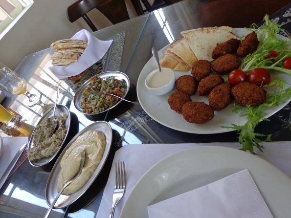 Almoço vegan no Oriente Árabe