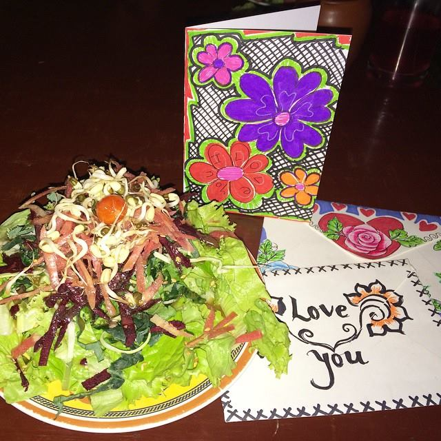 salada vegan ramanas garden